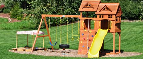Spielturm und spielhaus kindgerechte spielwelten im - Gartenpflanzen straucher ...